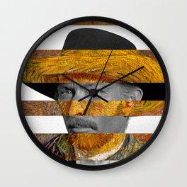 Van Gogh's Self Portrait & Lee Van Cleef Wall Clock