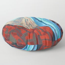 Through the Narrows, Zion National Park Painting Floor Pillow