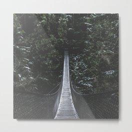 Lynn Canyon Suspension Bridge Metal Print