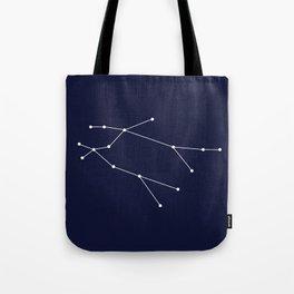 Gemini Star Sign Deep Blue Tote Bag