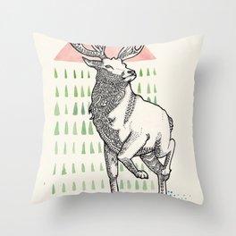 My Deer One Throw Pillow
