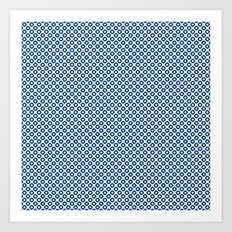 kanoko in monaco blue Art Print