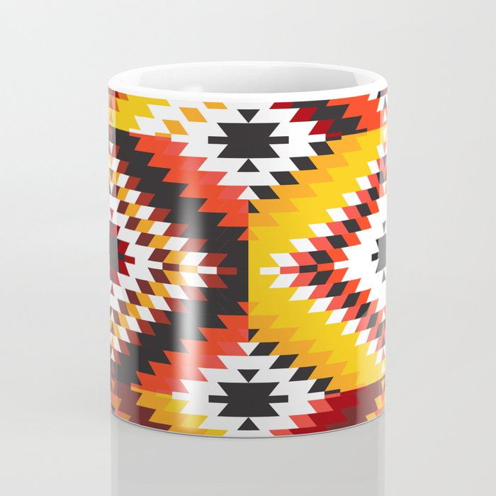 Colorful patchwork mosaic, oriental kilim rug Coffee Mug