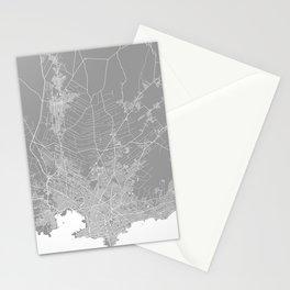 Mackay map grey australia Stationery Cards