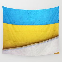 'Battered Building' Minimalistic Abstract Wall Tapestry
