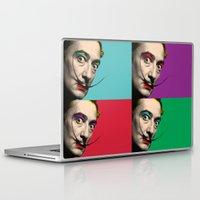 salvador dali Laptop & iPad Skins featuring Salvador Dali  by mark ashkenazi