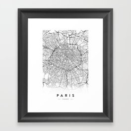 PARIS CITY MAP Framed Art Print