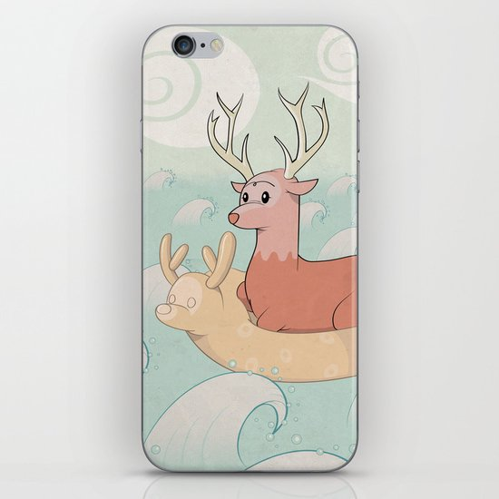 Deer Across the Sea iPhone & iPod Skin