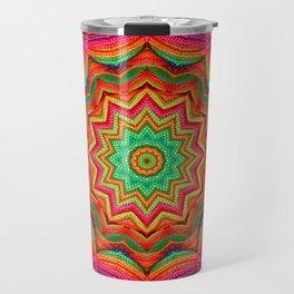 3D color kaleidoscope plus Travel Mug