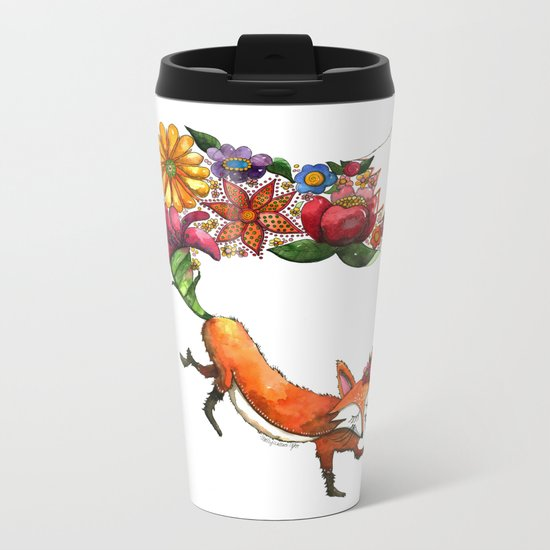 Hunt Flowers Not Foxes One Metal Travel Mug