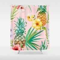 hawaii Shower Curtains featuring Hawaii by 83 Oranges™