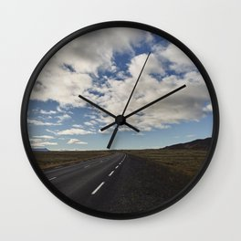 Ring Road - Iceland Wall Clock