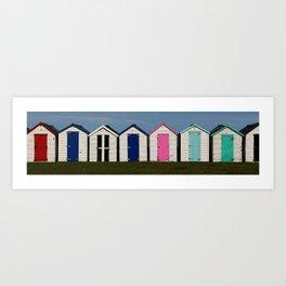 Holiday Beach Huts Art Print