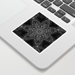 Black Snowflake Black Sticker