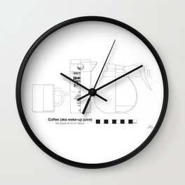 Coffee - Archaeological Drawing Wall Clock