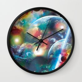 Thru the Clounds and in to the Stars Wall Clock