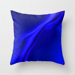 Smooth Blue Design Throw Pillow