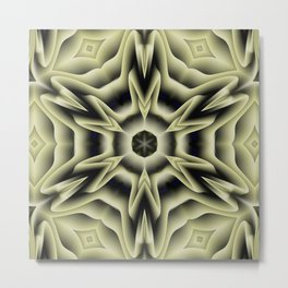 Spikes: abstract digital pattern Metal Print