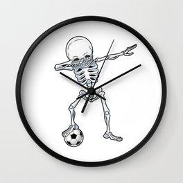 Dabbing Skeleton Skull - Dab Skull Wall Clock