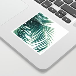 Palm Leaves Green Vibes #6 #tropical #decor #art #society6 Sticker
