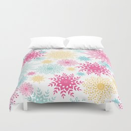Colorful Abstract Flowers Pattern Duvet Cover