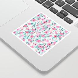 Flower Field Pink Mint Sticker