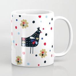 Folk Bird Coffee Mug