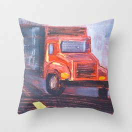 Keep Truckin' Throw Pillow