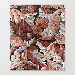 Art Nouveau William Morris Autumn Acanthus Leaves Canvas Print