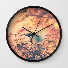 SUBTLE MAPLE - AUTUMN PINK Wall Clock