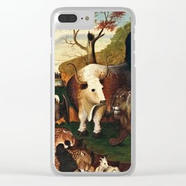 Edward Hicks - The Peaceable Kingdom Clear iPhone Case