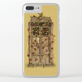 Tardis roses Clear iPhone Case