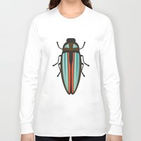 beetle Long Sleeve T-shirts featuring Beetle  by Juliana Zimmermann