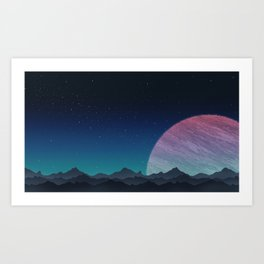 To lands untouched we travel. Art Print