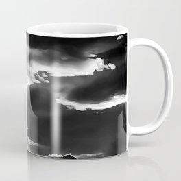 cloudy burning sky reacbw Coffee Mug
