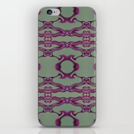 Blueberry lace iPhone Skin