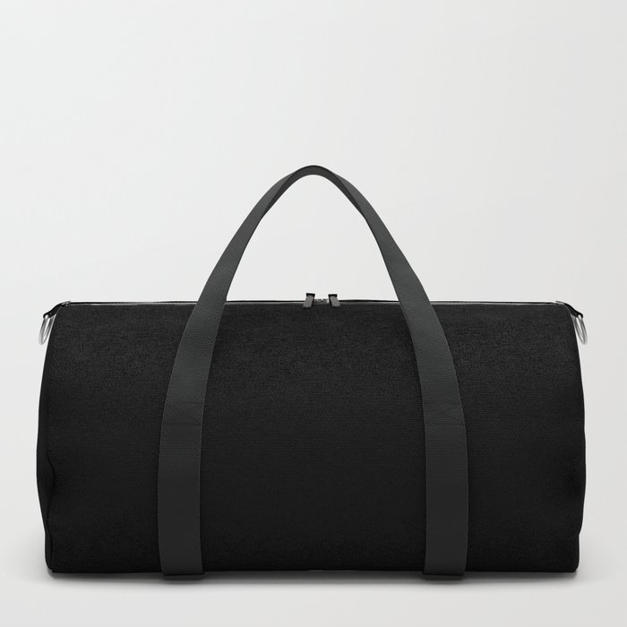 Black Minimalist Duffle Bag