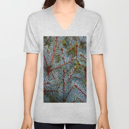 Branching Vibration Unisex V-Neck