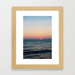 Dreamy Pastel Cape May Sunset Framed Art Print