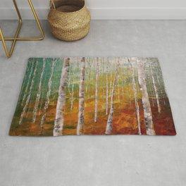 Birch Tree Forest Rug