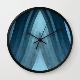 stripes wave pattern 6 coi Wall Clock