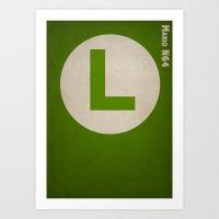 luigi Art Prints featuring Luigi by Jynxit