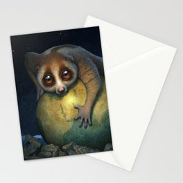 Loris Planet Stationery Cards