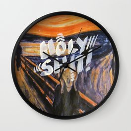 holy shit - 31daysofcursing Wall Clock