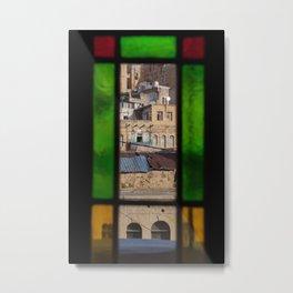 Through The Window Metal Print