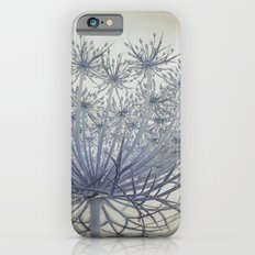 Vintage Wildflower Botanical Queen Anne's Lace in Blue iPhone 6s Slim Case