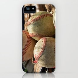 Baseballs and Glove iPhone Case