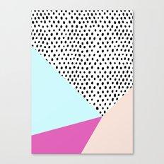 Polka dot rain geometric Canvas Print