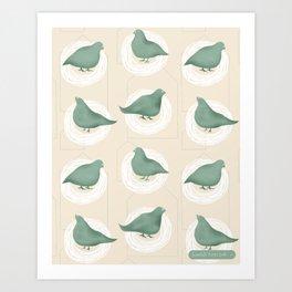 I got pigeons on my roof Art Print