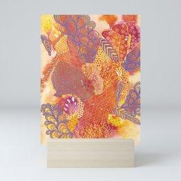Purple Plumes Mini Art Print